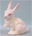 Click here to enlarge image and see more about item a03346: 1960s Miniature Bone China Albino Rabbit