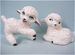 Vintage Pottery Lamb Pair