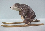 Click to view larger image of Vintage Painted Metal Skiing Bear (Image1)