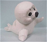 Click here to enlarge image and see more about item a03491: 1984 Enesco Waving White Seal Pup