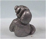 Click here to enlarge image and see more about item a03565: Miniature Pewter Begging Cartoony Dog