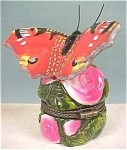 Click here to enlarge image and see more about item a03624: Trinket Box, Red Butterfly