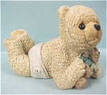 Click here to enlarge image and see more about item a03636: Stone Critters Baby Bear With Teddy