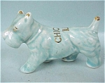 1930s/1940s US Pottery Blue Scottish Terrier Dog
