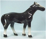 Click here to enlarge image and see more about item a03812: 1940s Small Black US Pottery Horse