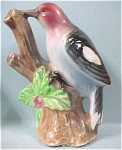 Click here to enlarge image and see more about item a03855: Small Glossy Ceramic Enesco Woodpecker