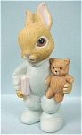 Click here to enlarge image and see more about item a03880: Homco Baby Bunny With Teddy Bear