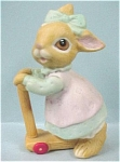 Click here to enlarge image and see more about item a03881: Homco Baby Bunny On Scooter