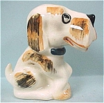 Click here to enlarge image and see more about item a03989: Occupied Japan Ceramic Sitting Dog