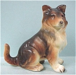Click here to enlarge image and see more about item a04008: Enesco Sitting Collie Puppy