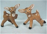 1950s Miniature Pottery Deer Pair