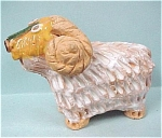 Click here to enlarge image and see more about item a04064: 1976 Enesco Clay Ram