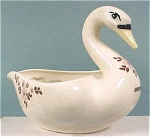 Click here to enlarge image and see more about item a04069: 1940s California Block Pottery Swan Planter