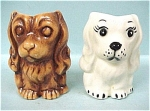 Ceramic Dog Toothpick Holder Pair