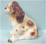 Click here to enlarge image and see more about item a04114: Lefton Sitting Spaniel Puppy
