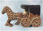 Click here to enlarge image and see more about item a04180: Ceramic Horse And Buggy Toothpick Holder