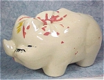 Click to view larger image of 1930s/1940s Pottery Piggy Bank (Image1)