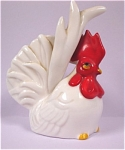 Click here to enlarge image and see more about item a04360: White Rooster Salt Shaker Single