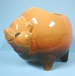 Click here to enlarge image and see more about item a04370: 1940s Shawnee Round Pig Planter