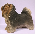 Click here to enlarge image and see more about item a04417: 1984 United Design Resin Lhasa Apso Dog