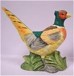 Click here to enlarge image and see more about item a04422: 1980s Lefton Miniature Pheasant