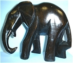 Click here to enlarge image and see more about item a04444: Carved Wood Elephant