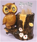 Click here to enlarge image and see more about item a04526: Owl Toothpick Holder