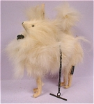 Click here to enlarge image and see more about item a04527: 1950s Japan Fur Dog