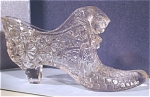 Click to view larger image of Clear Glass Shoe with Cat (Image1)