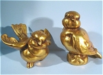 Click here to enlarge image and see more about item a04586: Freeman McFarlin Gold Leaf Bird Pair