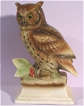 1960s Japan Ceramic Owl on Base