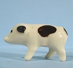 Click here to enlarge image and see more about item a04722: 1940s Ohio Pottery Miniature Baby Pig