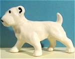 1940s Pottery Terrier Dog