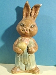 Click here to enlarge image and see more about item a04807: Vintage Chalkware Rabbit