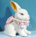 Click here to enlarge image and see more about item a04808: Porcelain Rabbit with Porcelain Ribbons