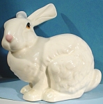 Click here to enlarge image and see more about item a04810: Ceramic White Bunny Rabbit