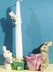 Click here to enlarge image and see more about item a04830: Bunny Candle Holder and Trinket Holder