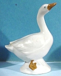 Click here to enlarge image and see more about item a04867: 1930s Miniature German Porcelain Goose