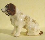 1950s Miniature Pottery Sitting Spaniel Dog