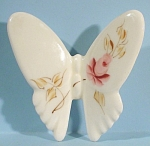 Click here to enlarge image and see more about item a04990: Pottery Butterfly with Rose Design