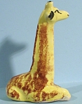 Click here to enlarge image and see more about item a05007: 1940s Pottery Lying Giraffe