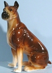 1960s Japan Ceramic Sitting Boxer Dog