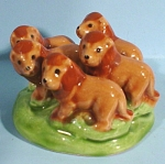Click to view larger image of Hester Miniature Pottery Lion Cluster Figurine (Image1)