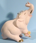 Click here to enlarge image and see more about item a05298: Walker-Renaker Pink Bisque Elephant