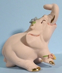 Click here to enlarge image and see more about item a05299: Walker-Renaker Pink Bisque Elephant