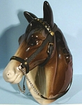 Click here to enlarge image and see more about item a05344: Duchy Pottery Horse Head Wall Hanger