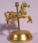 Click here to enlarge image and see more about item a05371: Unmarked Metal Carousel Horse