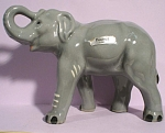 Click here to enlarge image and see more about item a05386: 1950s Robert Simmons Pottery Elephant Named Peanut