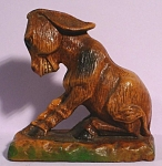 Click here to enlarge image and see more about item a05413: 1952 Composition Sitting Donkey