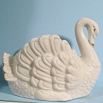 Click here to enlarge image and see more about item a05416: Swan Planter